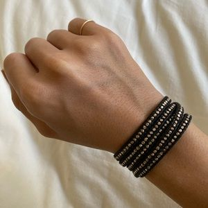 Chan Luu rose gold leather wrap bracelet